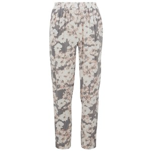 ONLY Women's Blackbird Floral Trousers - Cloud Dancer