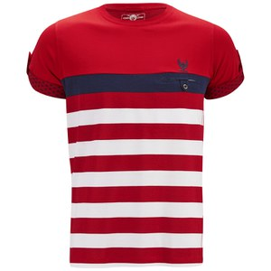 Ringspun Men's Finkle Stripe T-Shirt - Red