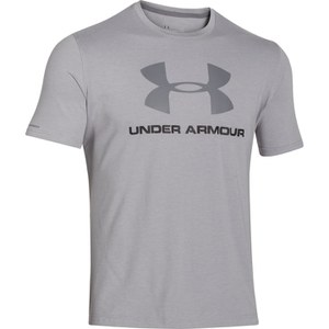 Under Armour Men's Sportstyle Logo T-Shirt - True Grey Heather