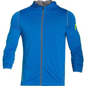 Under Armour Men's Tech Full Zip Training Hoody - Blue Jet/Hi Vis Yellow