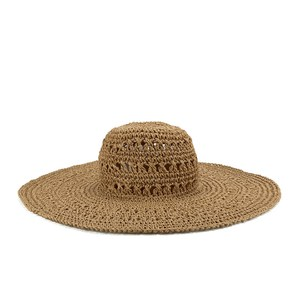 French Connection Women's Signa Floppy Hat - Natural