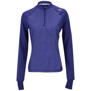adidas Supernova Women's Storm Long Sleeve 1/2 Zip T-Shirt - Night Flash
