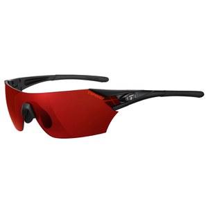 Tifosi Podium Clarion Mirror Sunglasses - Matte Black/Clarion Red