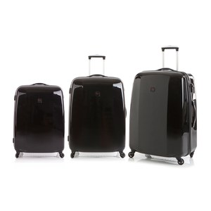 Redland '60TWO Collection' Hardsided Trolley Suitcase Set - Black - 75/65/55cm (3 Piece)