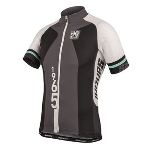 Santini Atom Lightweight Short Sleeve Jersey - Grey