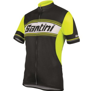 Santini Tau Short Sleeve Jersey - Yellow