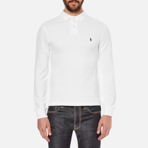 Polo Ralph Lauren Men's Slim Fit Long Sleeved Polo Shirt - White