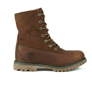 Timberland Women's Authentics Teddy Fleece Waterproof Fold-Over Boots - Tobacco Forty