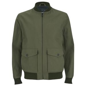Knutsford Men's 'Made in England' Cotton Zip-Through Bomber Jacket - Lovat/Khaki