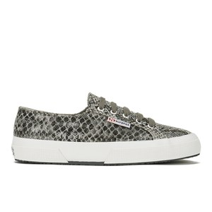 Superga Women's 2750 Snake Trainers - Snake Grey/Dark Grey