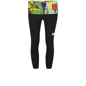 Myprotein Women's Capri - Black with Urban Print