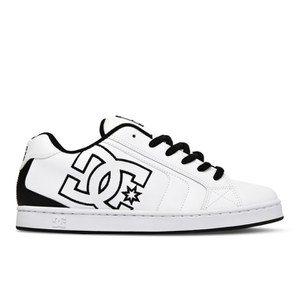 DC Shoes Men's Net Leather Mid Top Trainers - White