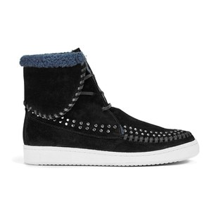 Thakoon Addition Women's Warwick 03 Suede Lace Up Ankle Boots - Black Suede Studs