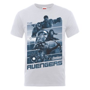Marvel Avengers Men's Age of Ultron Team Stripes T-Shirt - Ash Grey