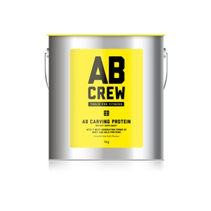 AB CREW Men's AB Carving Protein Artisanal Dietary Supplement - Caramel Sea Salt (1kg)