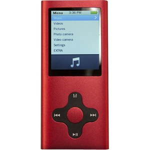 Mach Speed Eclipse-180G2 4GB MP3 Music and Video Player with FM Radio - Red