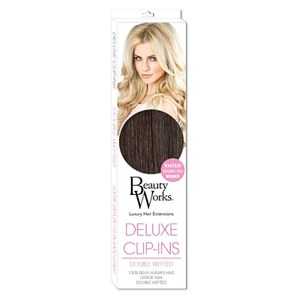 Beauty Works Deluxe Clip-In Hair Extensions 18 Inch - Raven 2