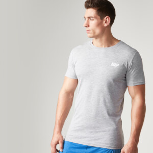 Myprotein Men's Longline Short Sleeve T-Shirt, Grey Marl