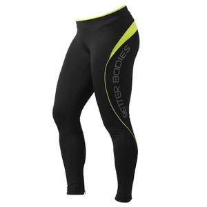 Better Bodies Fitness Long Tights - Black/Lime