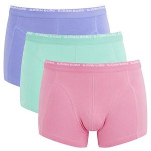 Bjorn Borg Men's 3 Pack Boxer Shorts - Sachet Pink