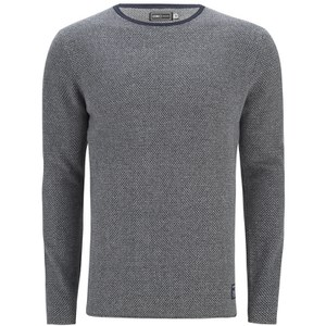 Jack & Jones Men's Core Bobby Crew Neck Knitted Jumper - Navy Blazer
