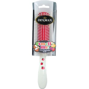 Denman D3 Tutti Frutti Strawberry Scented Brush - White/Red