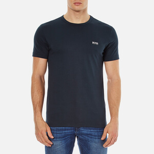 BOSS Green Men's Chest Logo Basic T-Shirt - Navy