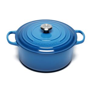 Le Creuset Signature Cast Iron Round Casserole Dish - 28cm - Marseille Blue