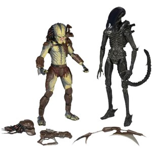 NECA Alien Vs Predator 7 Inch 2-Pack Action Figue With Mini Comic