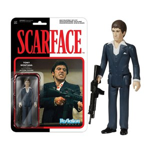 ReAction Scarface Tony Montana 3 3/4 Inch Action Figure