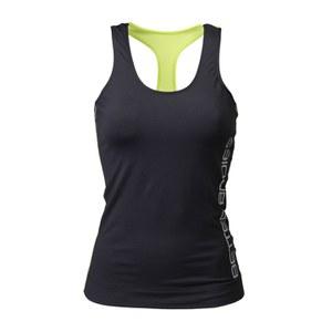 Better Bodies Women's T-Back Tank Top - Black/Lime