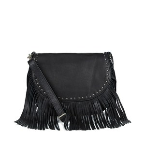 BeckSöndergaard Women's Lewis Fringed Shoulder Bag - Black