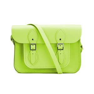 The Cambridge Satchel Company 11 Inch Classic Satchel - Fluoro Lime