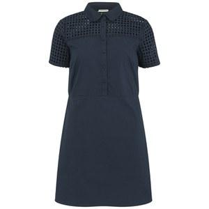 nümph Womens Fia Perforated Shirt Dress - Navy