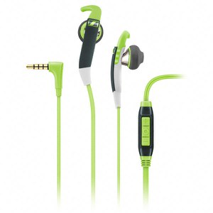 Sennheiser MX 686G Sports Earphones Inc In-Line Remote & Mic - Green/Grey