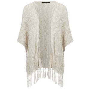 ONLY Women's Susan Knitted Poncho - Pumice Stone