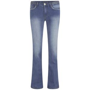 VILA Women's Calm Braid Flared Jeans - Light Blue Wash
