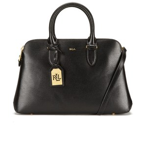 Lauren Ralph Lauren Women's Newbury Double Zip Dome Tote Bag - Black