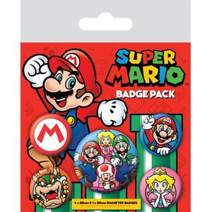 Nintendo Super Mario - Badge Pack