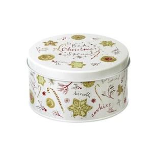 Parlane Christmas Cake Tin - White (100x180mm)