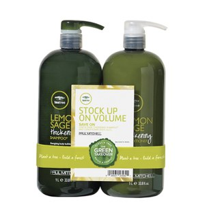 Paul Mitchell Lemon Sage 1000ml Duo (Worth £71.45)