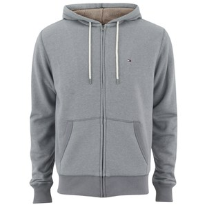 Tommy Hilfiger Men's Sasha Sports Zipped Hoody - Silver