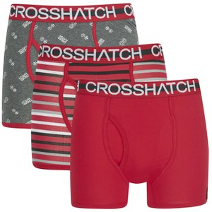 Crosshatch Men's Trixity Printed 3 Pack Boxers - Formula One