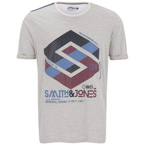 Smith & Jones Men's Stoneleigh T-Shirt - Off White Marl