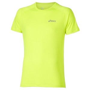 Asics Men's Short Sleeve Running T-Shirt - Safety Yellow