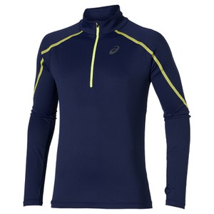 Asics Men's Lite Show Long Sleeve 1/2 Zip Running Top - Indigo Blue