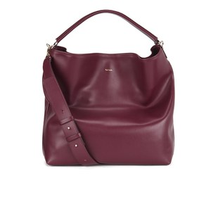 Paul Smith Accessories Women's Crossbody Leather Hobo Bag - Raspberry