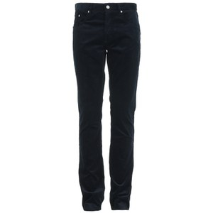 Maison Kitsuné Men's Corduroy Slim Cut Trousers - Anthracite
