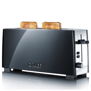 Graef Long Slot 2 Slice Toaster - Black Gloss