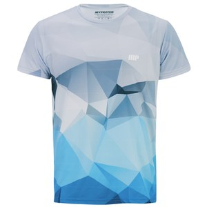 Myprotein Men's Geometric Printed Training Shirt, Light Blue